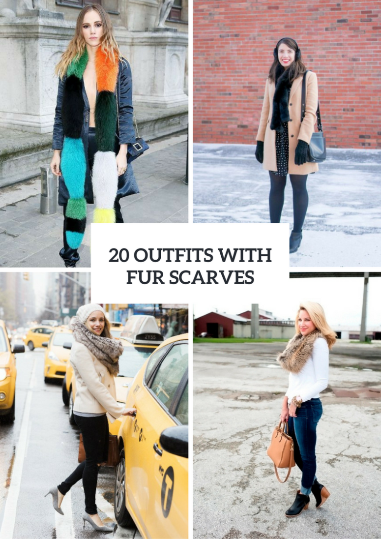 20 Comfy Outfits With Fur Scarves