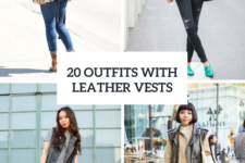 20 Leather Vest Outfits For Ladies