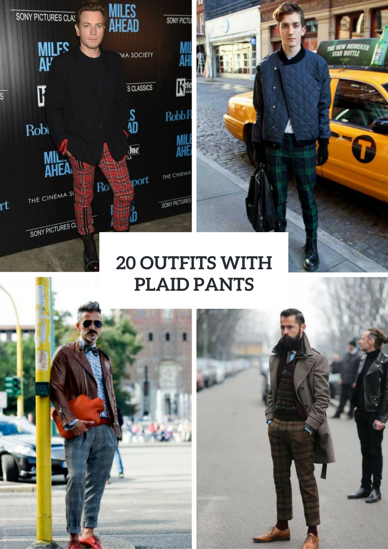 Men Outfit Ideas With Plaid Pants