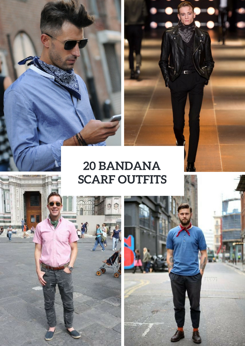 Men Outfits With Bandana Scarves