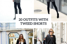 20 Winter Outfits With Tweed Shorts