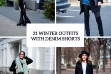 21 Winter Outfits With Denim Shorts To Repeat