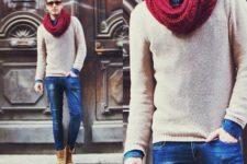 marsala infinity scarf