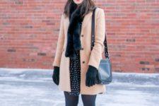 fur scarf fall or winter look