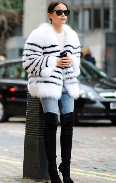 winter look with skinny jeans