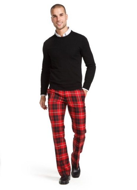 20 Men Outfit Ideas With Plaid Pants Styleoholic