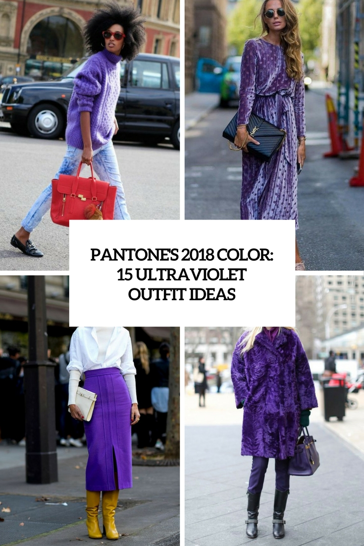 pantone's 2018 color 15 ultraviolet outfit ideas cover