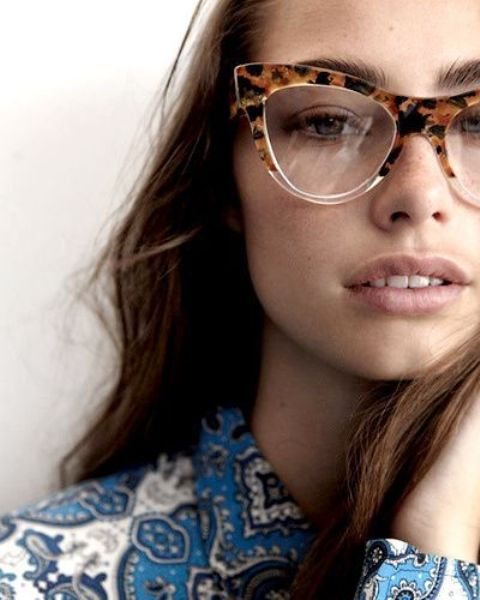 partly tortoise rimmed glasses look more subtle and still very trendy