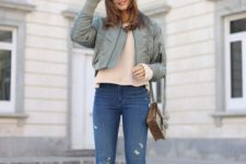 transitional look with metallic shoes