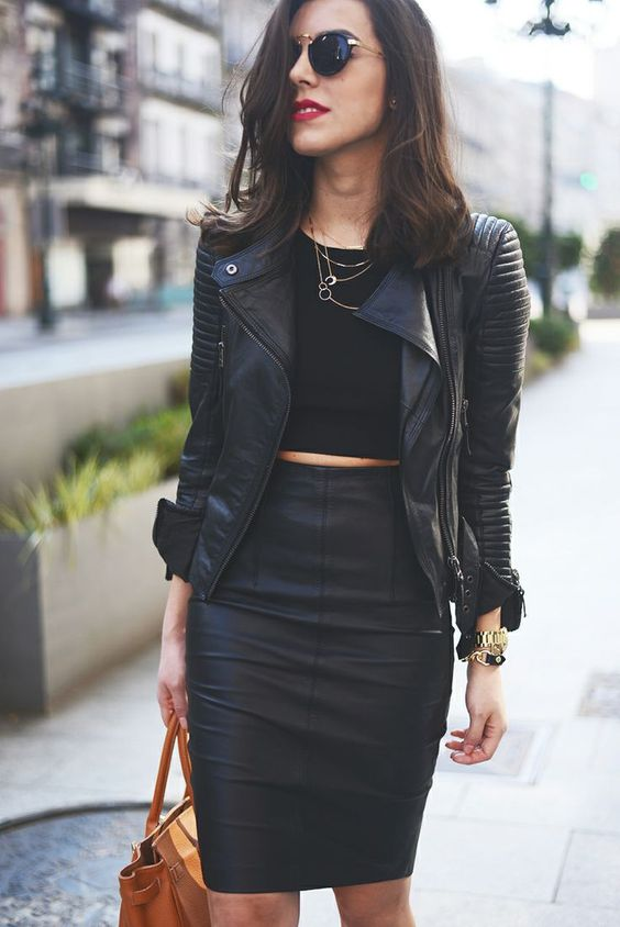 hot and sexy all black outfit