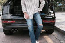 casual man's look with Vans
