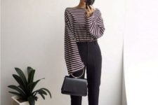gorgeous office look with stripes