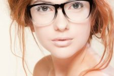 11 make your look softer and more subtle with a partly black and partly clear frame
