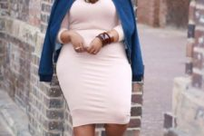 a plus size girl's look with statement accessories