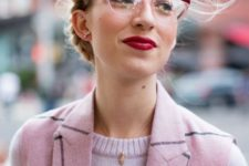 13 eye-catchy partly red and partly clear rimmed glasses for a trendy look