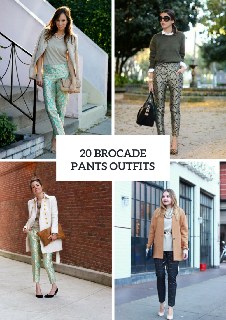 Gorgeous Brocade Pants Outfits For Ladies