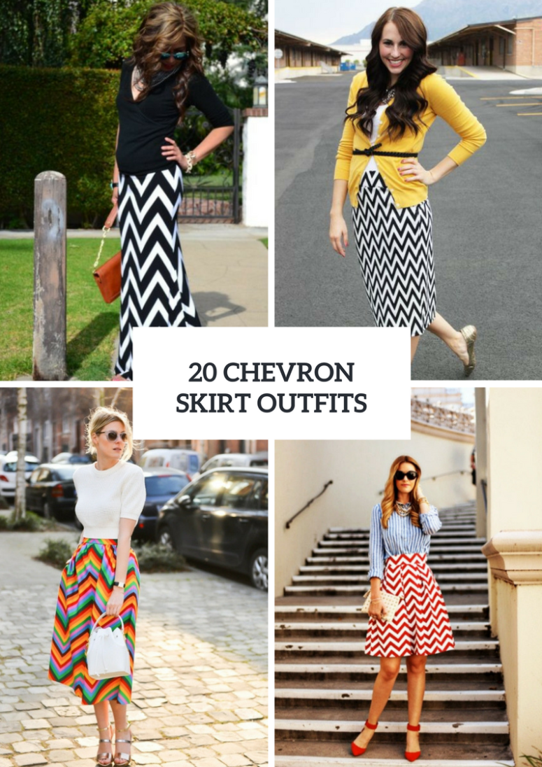 Incredible Outfits With Chevron Skirts