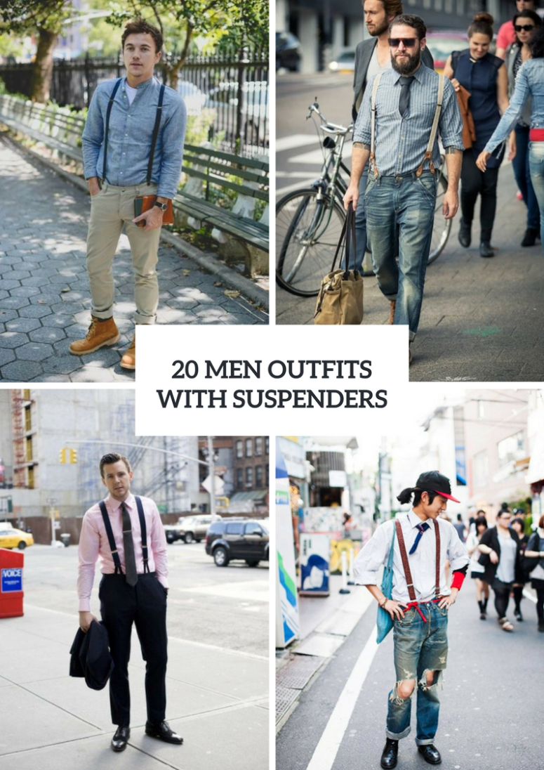 Men Outfits With Suspenders