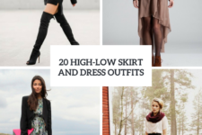 20 Outfit Ideas With High-Low Skirts And Dresses