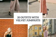 20 Spring Outfits With Velvet Jumpsuits
