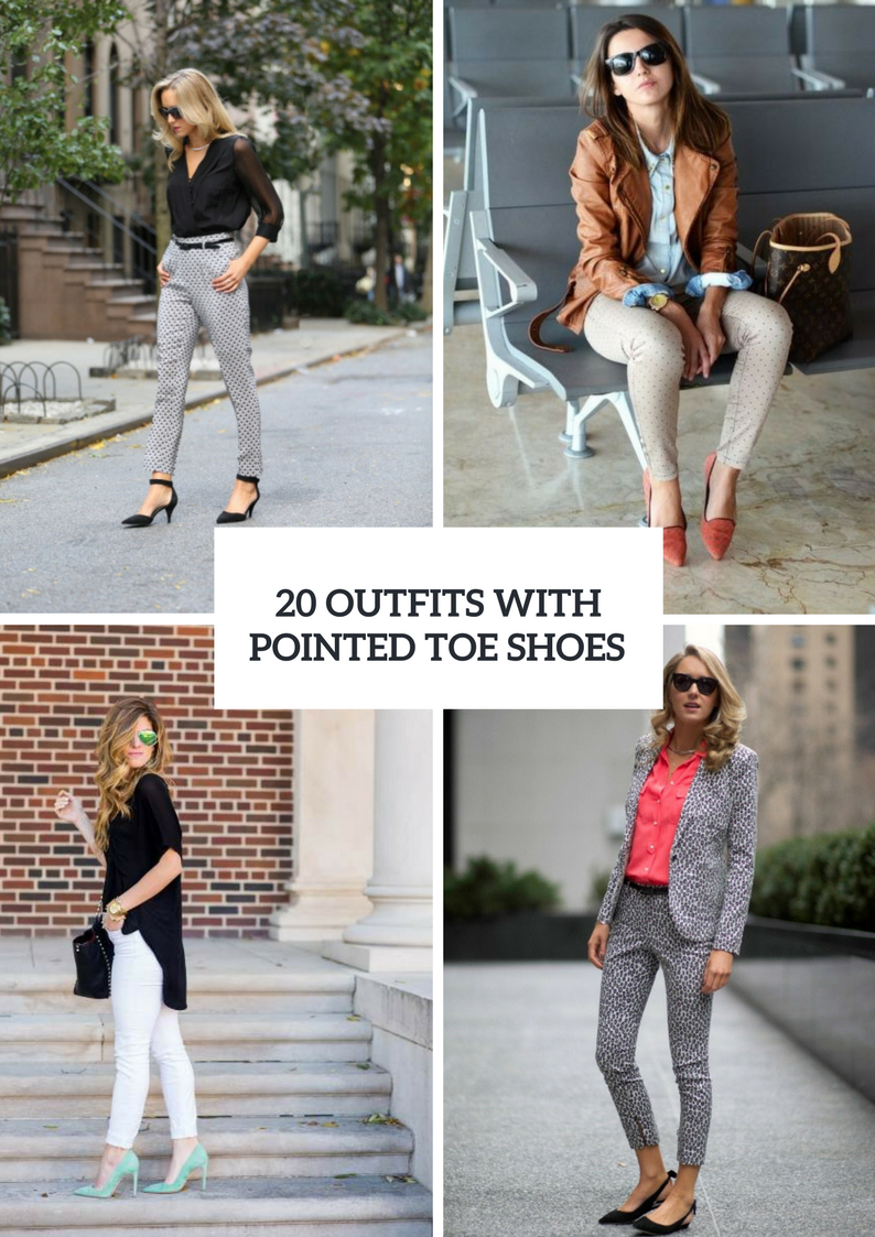 Stylish Outfits With Pointed Toe Shoes