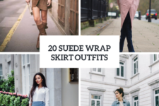 20 Suede Wrap Skirt Outfit Ideas
