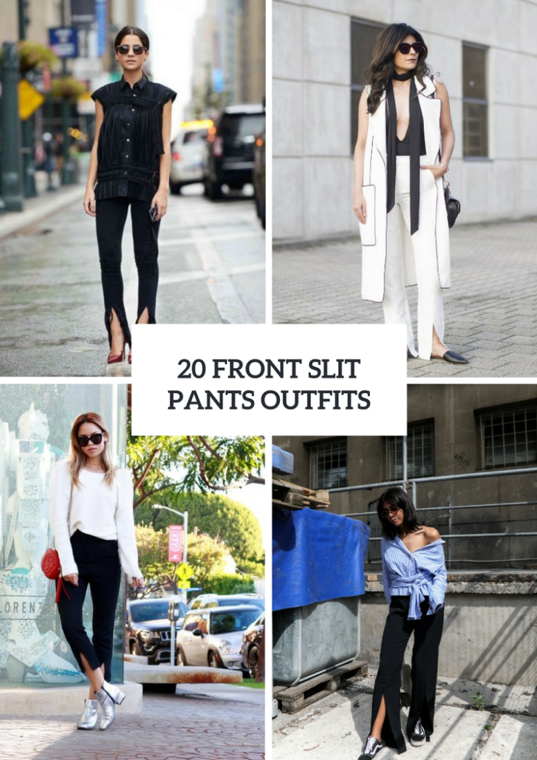20 Trendy Outfits With Front Slit Pants