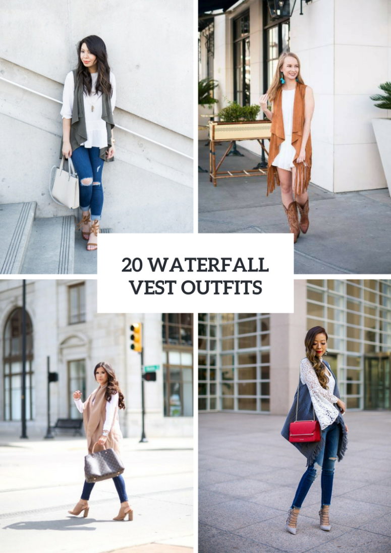 20 Wonderful Outfits With Waterfall Vests