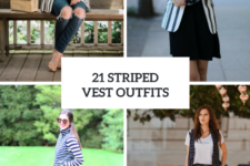 21 Cool Outfits With Striped Vests
