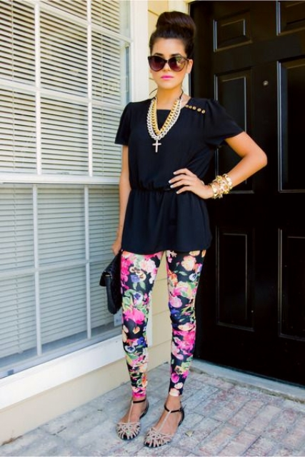 How to Combine Floral Leggings