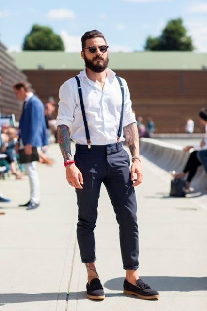 hot-selling professional boy discount shop 20 Stylish Men Outfits With Suspenders - Styleoholic