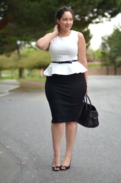 50e8bc497b77d 15 Chic Plus Size Outfits With Pencil Skirts - Styleoholic