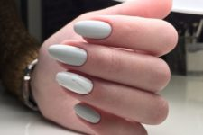 03 dove grey nails plus an accent marble one for a fresh spring look