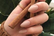 03 perfect almond-shaped nude nails will be actual for any situation and event