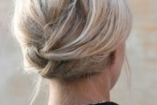 04 a twisted updo is very comfortable to wear, secure it with hair pins