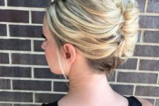 05 a sophisticated sleek French twist updo is perfect for work