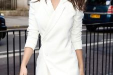 05 a white blazer dress with long sleeves is a gorgeous idea for many kinds of parties