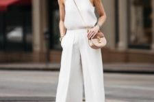 stylish all white summer look