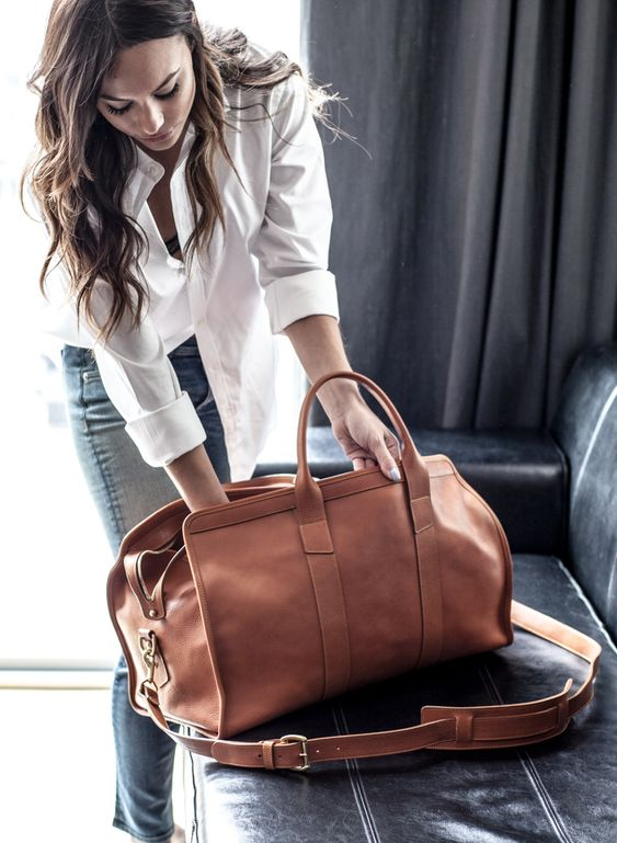 medium sized bag for a casual outfit