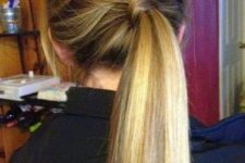 11 a low ponytail with a braid on top is a great idea to realize in a couple of minutes