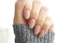 12 matte nude nails are ideal for any occasion including work