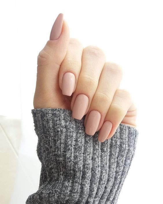 matte nude nails are ideal for any occasion including work