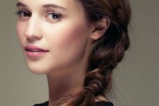 braided hairstyle for an office look