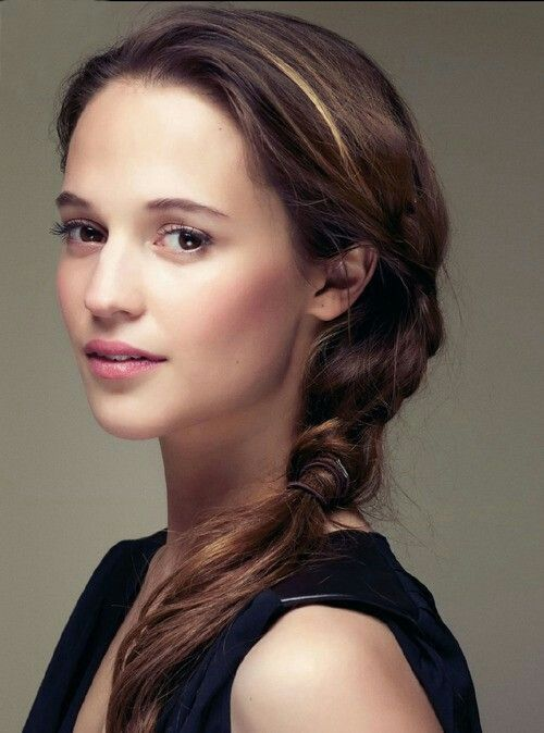 a simple and a bit messy braid is an ideal hairstyle that can be made in a minute