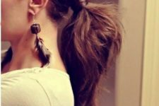 14 a twisted thick ponytail will fit not only casual days but also work days