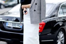catchy spring work look with a blazer