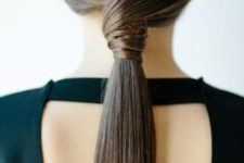 15 an ultra-minimalist sleek twisted ponytail for a gorgeous look