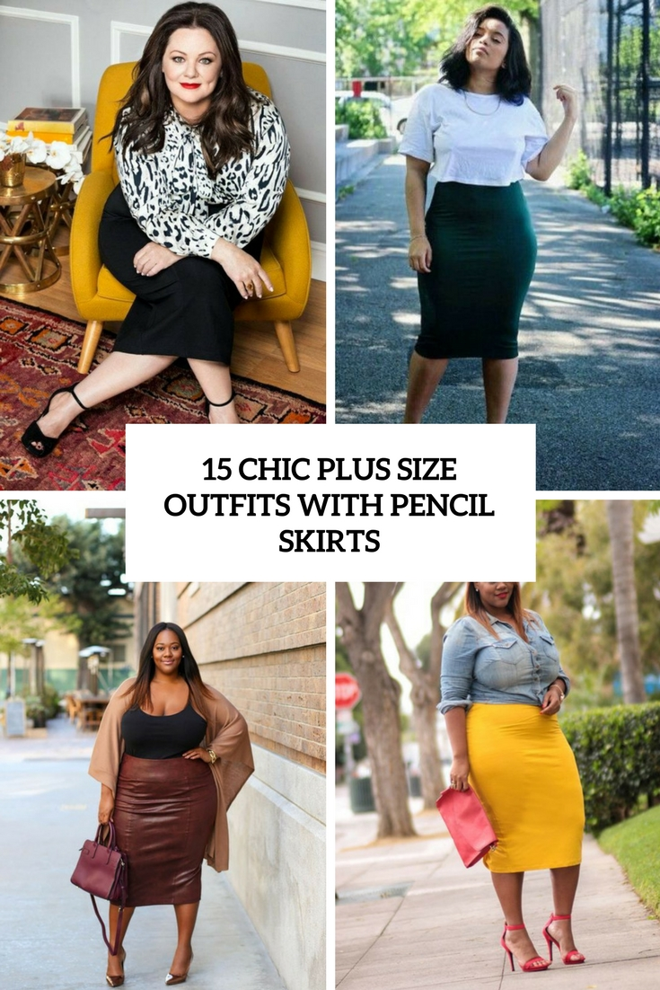 15 Chic Plus Size Outfits With Pencil Skirts