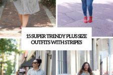 15 super trendy plus size outfits with stripes cover