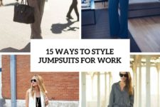 15 ways to style jumpsuits for work cover